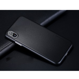 X-LEVEL Matte Hard Plastic Case for iPhone X - Black