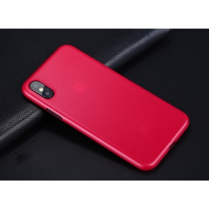 X-LEVEL Matte Hard PC Case for iPhone X - Red