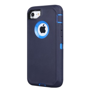 Shockproof Drop-proof Dust-proof Plastic + TPU Hybrid Mobile Shell for iPhone 8/7 - Blue + Dark Blue