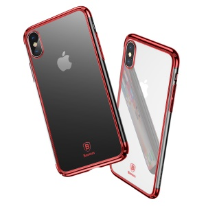 BASEUS Super Slim Electroplating Hard PC Cover for iPhone X - Red