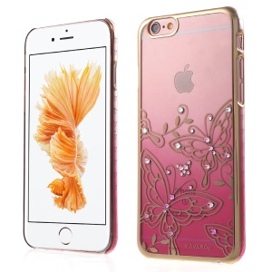 KAVARO Swarovski Butterflies Hard Cover for iPhone 6s Plus / 6 Plus - Pink