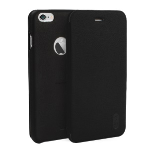 LENUO Ledream Series Flip Leather Case for iPhone 6s 6 with Card Slot - Black