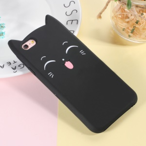 3D Smile Cat Silicone Phone Shell for iPhone 6s / 6 - Black