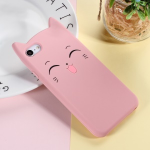 3D Smile Cat Silicone Phone Casing for iPhone 8/7 4.7 inch - Pink
