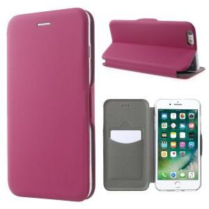 Twill Grain Leather Card Holder Stand Case for iPhone 6s Plus/6 Plus 5.5-inch - Rose
