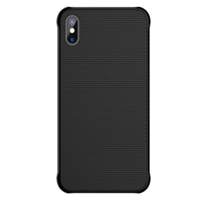 NILLKIN Steel Armour Series 9H Tempered Glass Coated Hard PC Case for iPhone X - Black