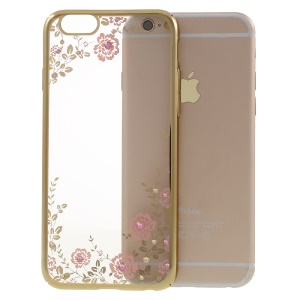 KAVARO Floret Swarovski Gold Plated Hard Case para el iPhone 6s Plus / 6 Plus - Rosado