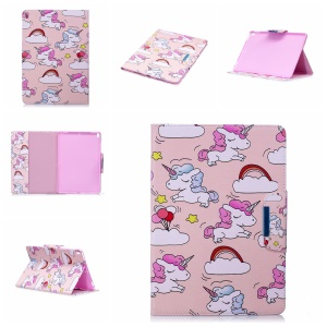 Pattern Printing Smart Leather Stand Case for iPad Pro 10.5-inch (2017) - Unicorns and Cloud