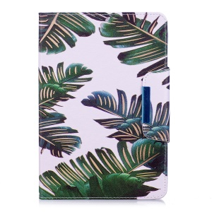 Patterned Leather Wallet Smart Tablet Shell for iPad mini 4/3/2/1 - Banana Leaves
