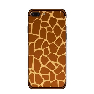 NXE Embossment Pattern TPU Cover Case for iPhone 8 Plus/7 Plus 5.5 inch - Giraffe Pattern