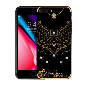NXE Rhinestone Decor Pattern Bayer TPU Case for iPhone 8 Plus / 7 Plus 5.5 inch - Tribal Mesh Pattern