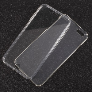 Acrylic TPU Hybrid Front + TPU Back Hybrid Cell Phone Case for iPhone 6s 6 - Transparent