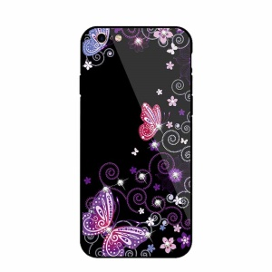 NXE Rhinestone Decor Patterned TPU + PC + Glass Mobile Cover for iPhone 6s Plus / 6 Plus - Elegant Butterflies and Vines