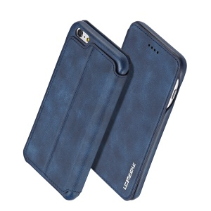 LC.IMEEKE Retro Style Leather Card Holder Stand Shell for iPhone 6s/6 4.7-inch - Blue