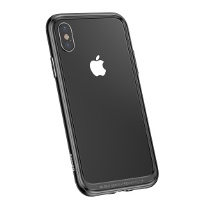 BASEUS Platinum Metal + TPU Bumper Case for iPhone X/10 5.8 inch - Black