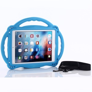 Kids-friendly EVA Shockproof Case with Carrying Strap for iPad 9.7 (2018) / 9.7 (2017) / Air 2 / Air - Blue