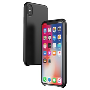 BASEUS Silky Feel Liquid Silicone Protective Cover for iPhone X - Black