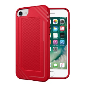 Anti-slip Armor TPU Case Phone Shell for iPhone 8/7 - Red