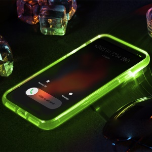 ROCK Light Tube Series for iPhone X Incoming Call Flashing PC TPU Hybrid Phone Casing - Green