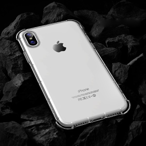 ROCK Fence S Series Drop-proof TPU Mobile Phone Cover for iPhone XS / X 5.8 inch - Transparent