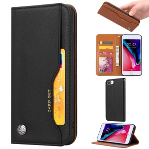 PU Leather Auto-absorbed Wallet Stand Case for 8 Plus / 7 Plus / 6s Plus / 6 Plus 5.5 inch - Black