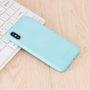 MOLAN CANO Rubberized Soft TPU Back Cover for iPhone XS / X 5.8 inch - Baby Blue