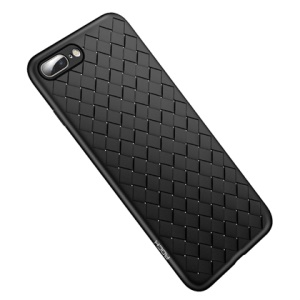 ROCK BV Woven Pattern Heat Dissipation TPU Case for iPhone 8 Plus / 7 Plus - Black