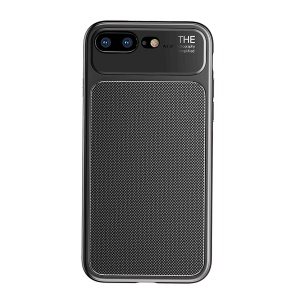 BASEUS Knight Series Diamond Pattern High Aluminum Glass + Soft TPU Hybrid Cell Phone Cover for iPhone 8 Plus / 7 Plus - Black