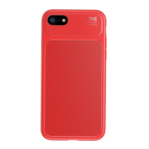 BASEUS Knight Series Diamond Pattern High Aluminum Glass + Soft TPU Combo Phone Cover Accessory for iPhone 8 / 7 4.7 inch - Red