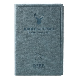 Imprint Deer and Quote PU Leather Stand Flip Casing for iPad Mini 3/2/1 - Blue