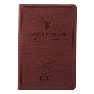 Imprint Deer and Quote PU Leather Flip Stand Case for iPad Mini 3/2/1 - Brown