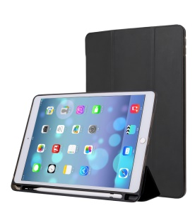 Single Front Leather Tri-fold Stand Smart Case for iPad Pro 10.5-inch (2017) - Black