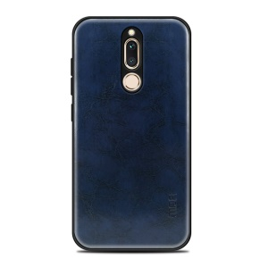 MOFI PU Leather Coated PC + TPU Hybrid Shell for Huawei Mate 10 Lite / nova 2i / Maimang 6 / Honor 9i (India) - Dark Blue
