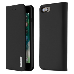 DUX DUCIS Wish Series CNAS/CMA certified Genuine Leather Wallet Stand Case for iPhone 8 Plus/7 Plus 5.5 inch - Black