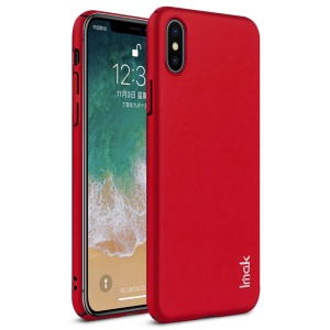 IMAK Jazz Skin Feel PC Back Cover + Screen Protector Film for iPhone X - Red