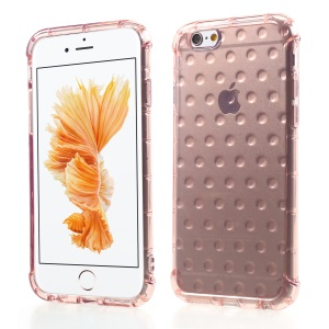 3D Bubble Soft TPU Back Phone Cover for iPhone 6s/6 4.7-inch - Pink