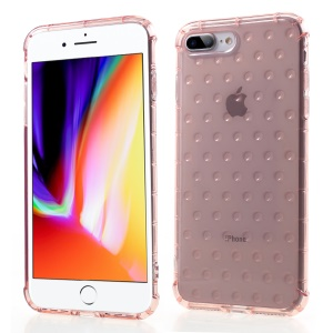 3D Bubble Soft TPU Back Phone Cover for iPhone 8 Plus/7 Plus 5.5 inch - Pink