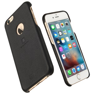 LENUO Music Case II Leather Coated PC Hard Cover for iPhone 6s 6 4.7 inch - Black