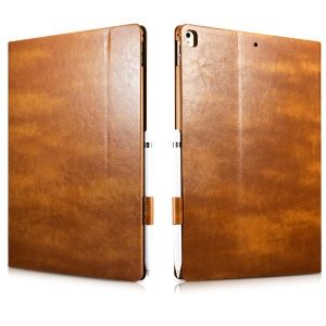 XOOMZ Knight Series Crazy Horse PU Leather Smart Shell for iPad Pro 12.9 (2017) - Brown