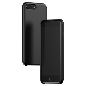 BASEUS Silky Feel Liquid Silicone Protective Cover for iPhone 8 Plus / 7 Plus 5.5 inch - Black