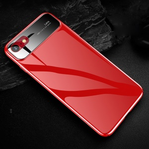 USAMS MEO Series for iPhone 8 / 7 4.7 inch Glossy Tempered Glass + PC Mobile Phone Shell - Red