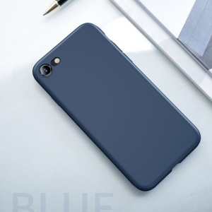 USAMS Sanze Series 0.8mm Liquid Silicone PC Hybrid Back Shell for iPhone 8 / 7 4.7 inch - Blue
