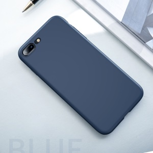 USAMS Sanze Series 0.8mm Liquid Silicone PC Combo Mobile Shell for iPhone 8 Plus / 7 Plus 5.5 inch - Blue