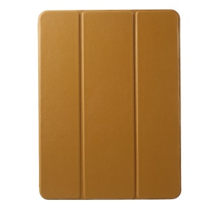 Tri-fold Stand Leather Tablet Protective Shell with Pen Slot for iPad 9.7 (2018)/9.7 (2017)/Pro 9.7 inch/Air 2/Air - Brown
