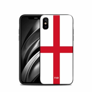 NXE 2018 World Cup Flag Pattern TPU Cell Phone Case for iPhone X - Flag of England
