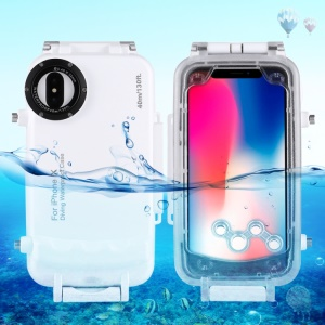 HAWEEL HWL2502 40M Waterproof Snow/Shock/Dirt Proof Shell Case with Camera Lens for iPhone X - White