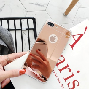 Electroplated Mirror-like TPU Back Case Cover for iPhone 8 Plus / 7 Plus 5.5 inch - Rose Gold