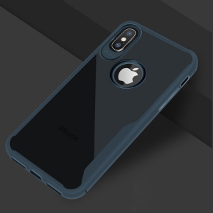 Shock Absorption Soft TPU Mobile Phone Casing for iPhone X/XS 5.8 5.8 inch - Blue