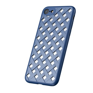 BASEUS Hollow Heat Dissipation Combo PC + TPU Protective Back Casing for iPhone 8/7 4.7 inch - Blue