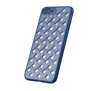 BASEUS Hollow Heat Dissipation Combo PC + TPU Protective Phone Case for iPhone 8 Plus/7 Plus 5.5 inch - Blue